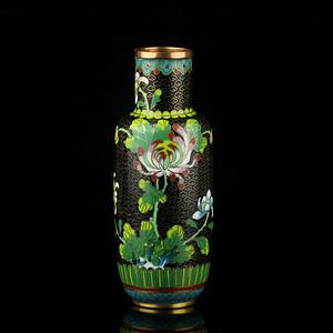 11号拍品 民国铜胎掐丝珐琅花卉纹纹