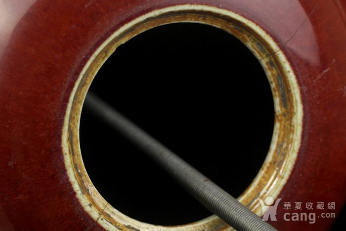 34号拍品 清中期红釉冬瓜罐台灯一对图5