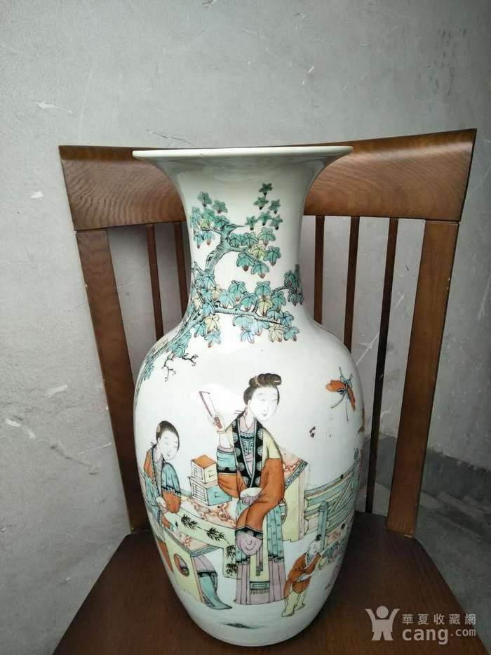 民国粉彩大瓶