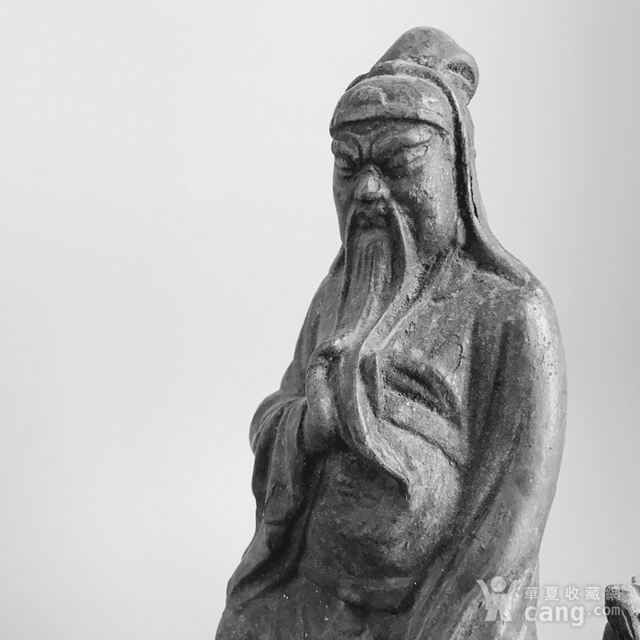清 amp  8226 木雕关公 持莲童子造像一套图4