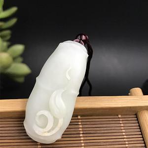 联盟 和田白玉 竹节 节节高