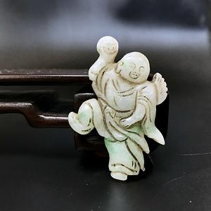 精品 清代老翡翠冰糯种刘海