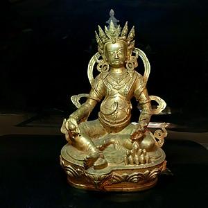 精品 压轴 收藏级清代藏传铜鎏金佛像一尊