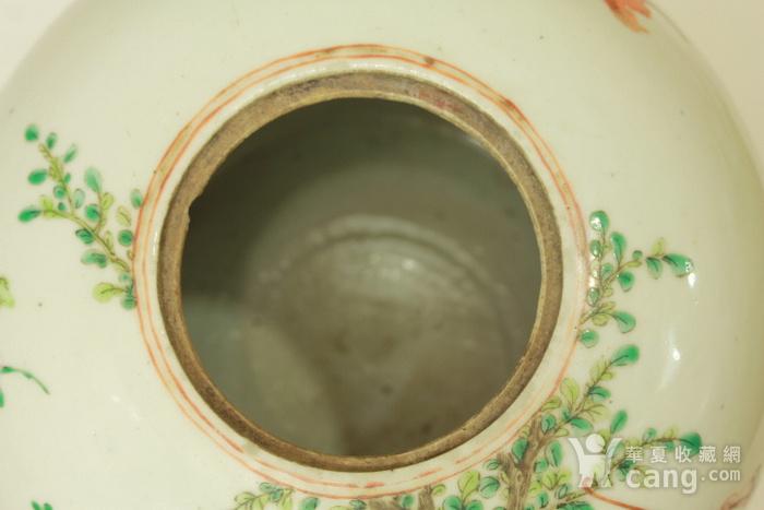 精品 精工细路描金连生贵子纹西瓜罐一对 带精雕木座图9