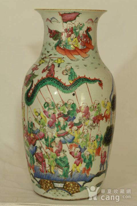 清代粉彩百子龙灯纹150件瓶图2