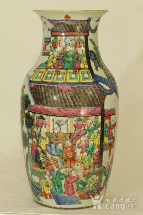 清代粉彩百子龙灯纹150件瓶图4