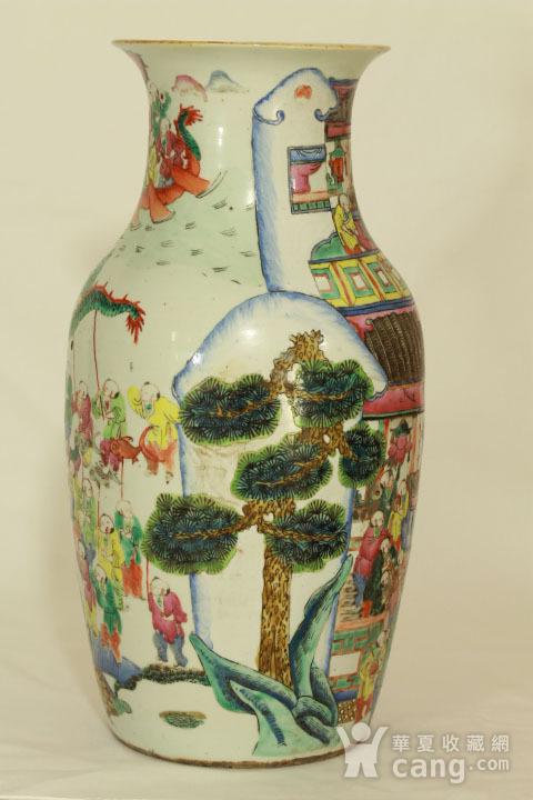 清代粉彩百子龙灯纹150件瓶图3