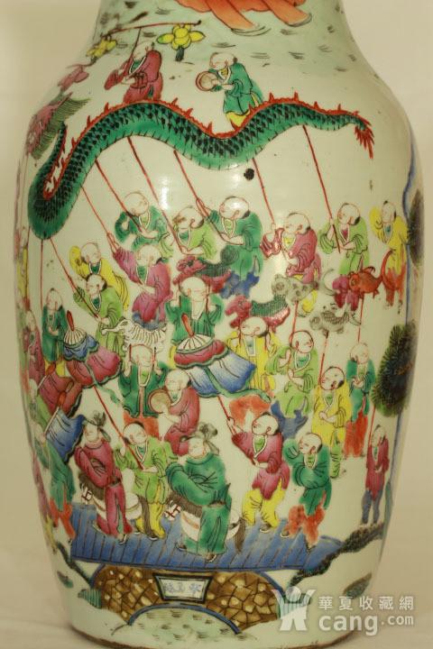 清代粉彩百子龙灯纹150件瓶图5