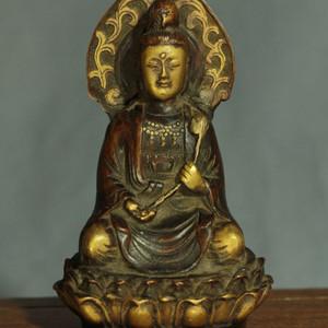 鎏金铜持莲观音坐像