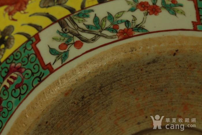 清大雅斋风格黄地粉彩龙纹大画缸 带老红木底座图11