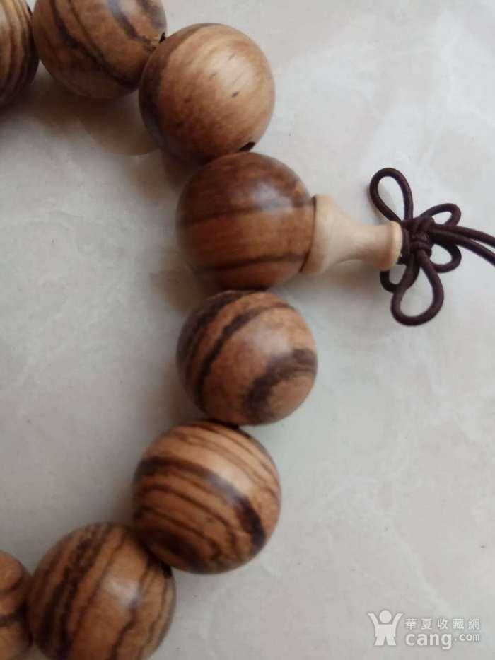 虎纹沉香1.8佛珠手串,图4
