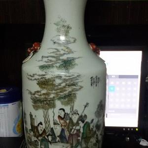 竹林七贤大花瓶