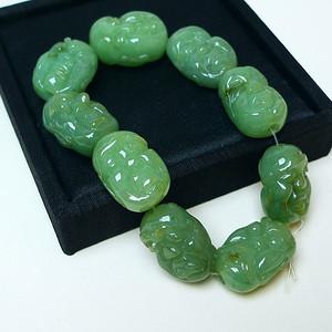 冰润绿十八罗汉手链