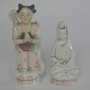 文革人物瓷塑两个