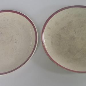 两个外国老瓷盘