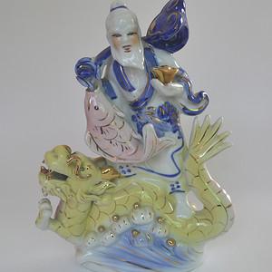 精品瓷塑渔夫