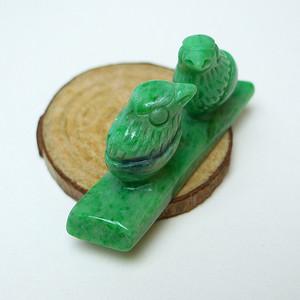 冰润辣绿鸳鸯戏水摆件