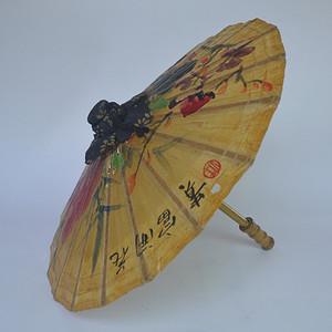 手绘牡丹油纸伞