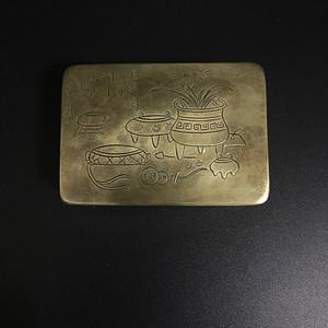 欧洲回流 名人铜墨盒