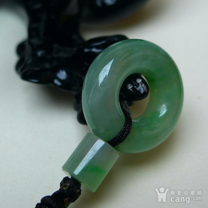 冰润满绿平安扣吊坠图3