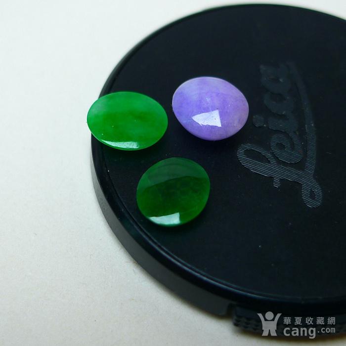 冰种满绿紫罗兰蛋型戒面图5