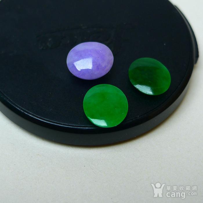 冰种满绿紫罗兰蛋型戒面图4