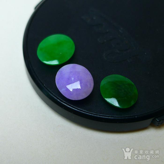 冰种满绿紫罗兰蛋型戒面图9