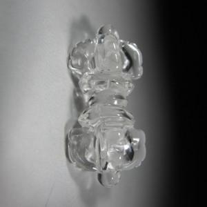 清代天然白水晶*杵