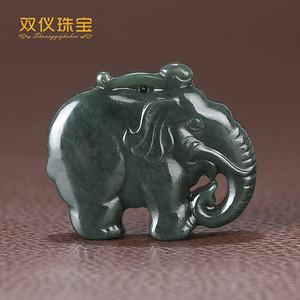 双仪珠宝 新疆和田玉青玉 太平有象
