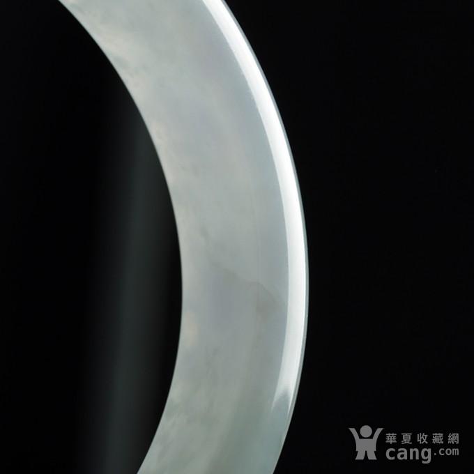 淡紫翡翠平安手镯 57mm  32HR19图7