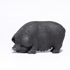 小猪雕塑  全手工成型 国家级工艺美术员林桂香
