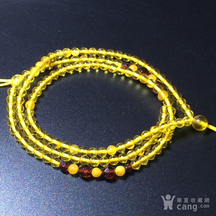 波罗的海 纯天然琥珀金珀项链 隔珠是血珀 吊坠配链图2