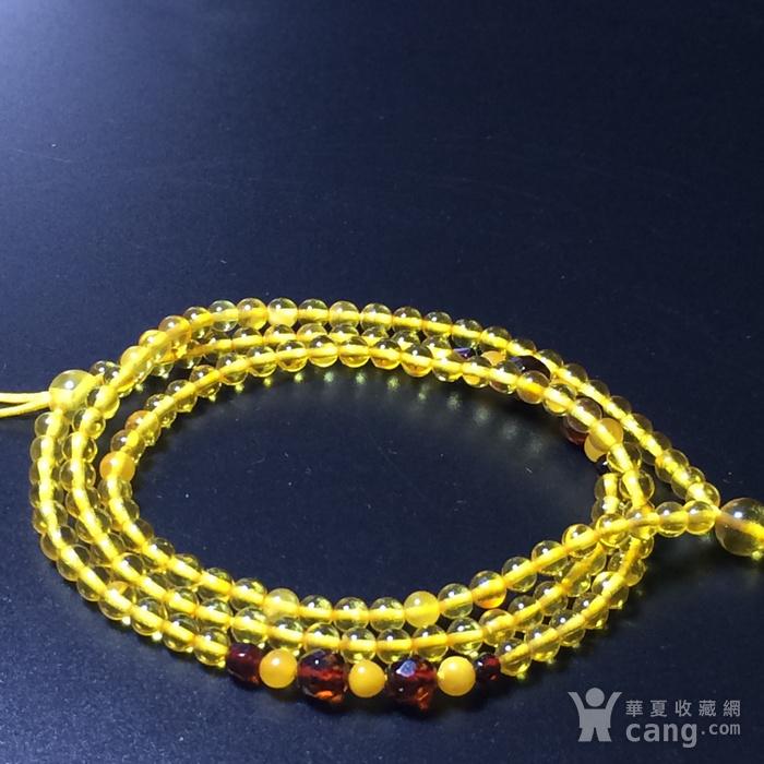 波罗的海 纯天然琥珀金珀项链 隔珠是血珀 吊坠配链图3