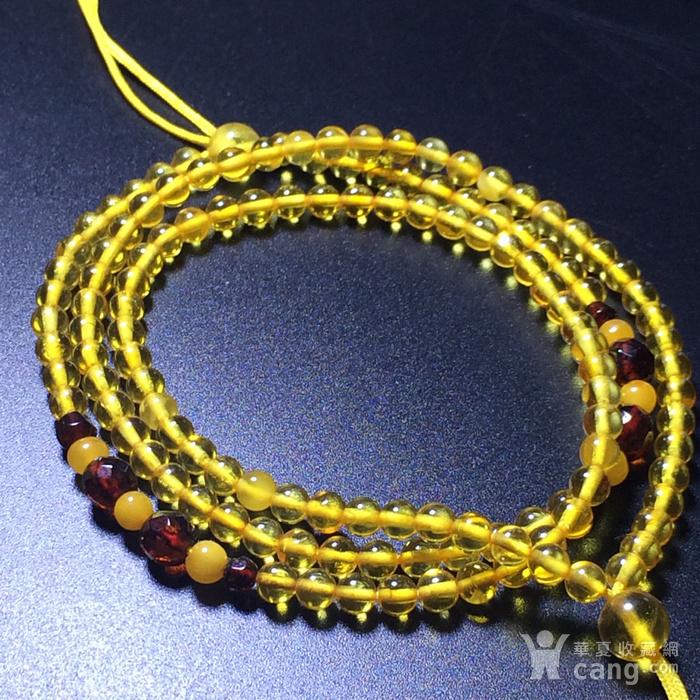 波罗的海 纯天然琥珀金珀项链 隔珠是血珀 吊坠配链图4