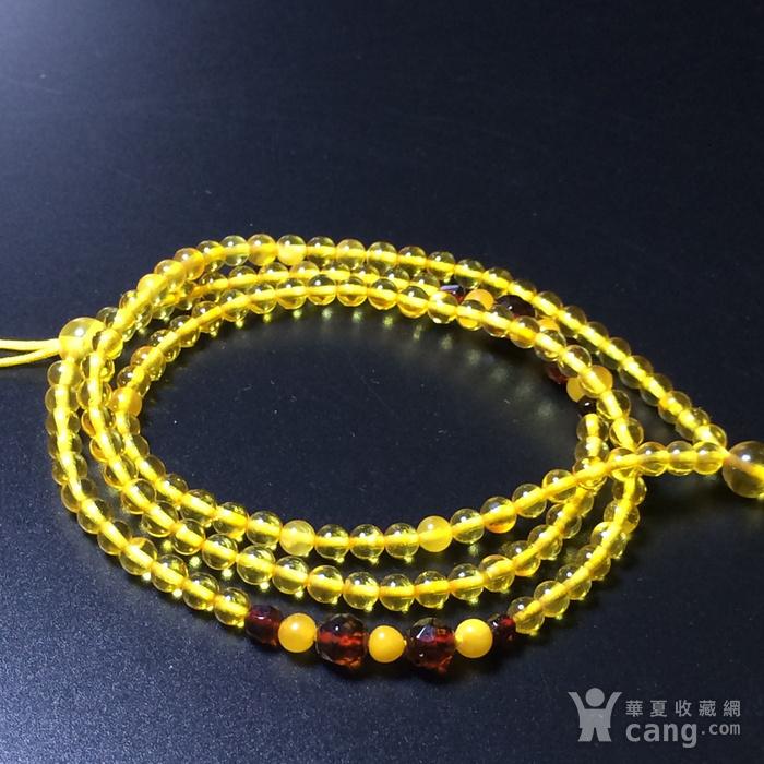 波罗的海 纯天然琥珀金珀项链 隔珠是血珀 吊坠配链图5