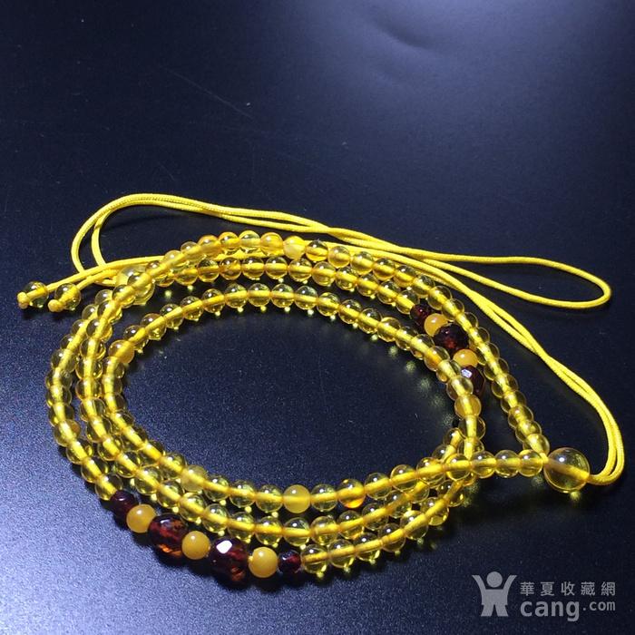 波罗的海 纯天然琥珀金珀项链 隔珠是血珀 吊坠配链图6