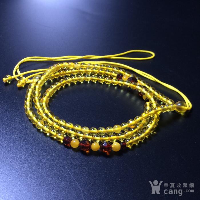 波罗的海 纯天然琥珀金珀项链 隔珠是血珀 吊坠配链图7