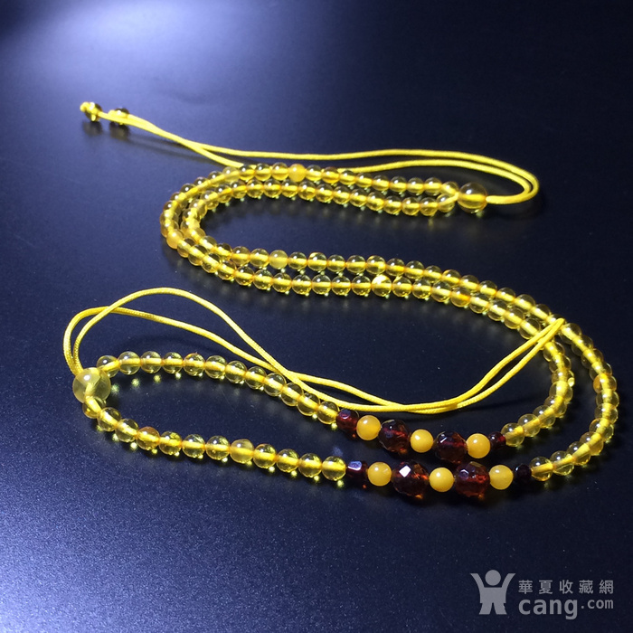 波罗的海 纯天然琥珀金珀项链 隔珠是血珀 吊坠配链图8