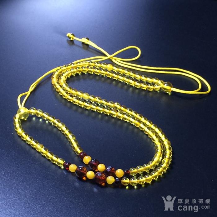 波罗的海 纯天然琥珀金珀项链 隔珠是血珀 吊坠配链图9