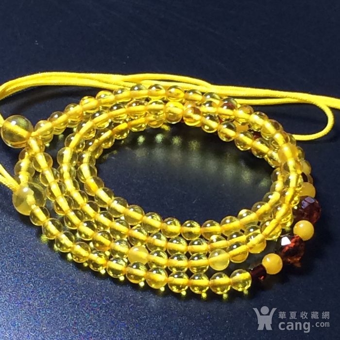 波罗的海 纯天然琥珀金珀项链 隔珠是血珀 吊坠配链图1