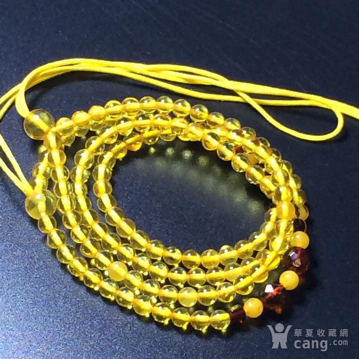 波罗的海 纯天然琥珀金珀项链 隔珠是血珀 吊坠配链图10