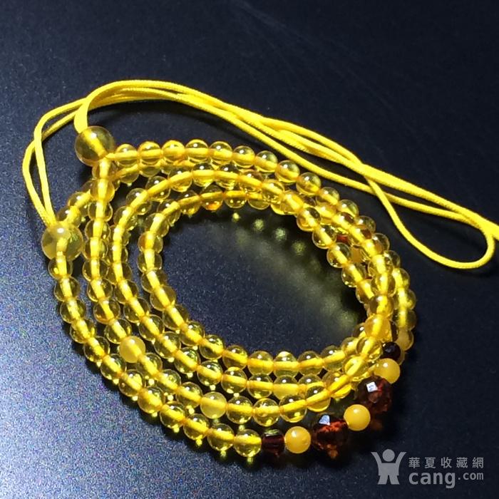 波罗的海 纯天然琥珀金珀项链 隔珠是血珀 吊坠配链图11