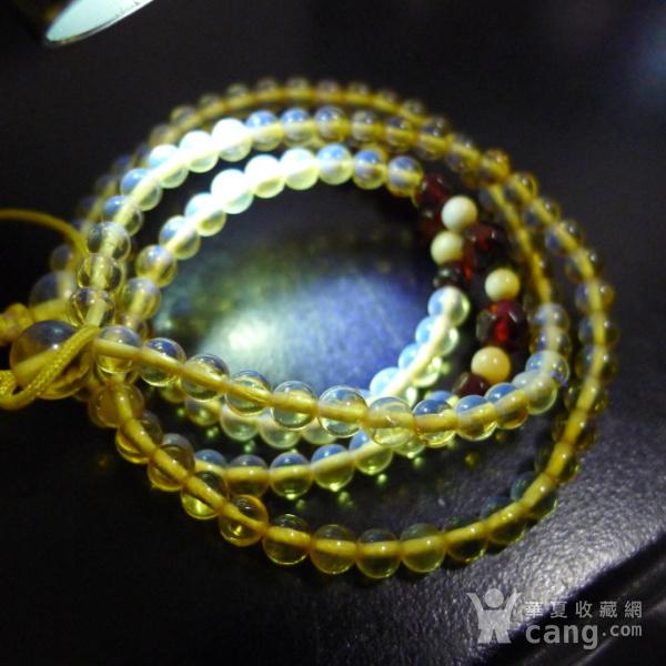 波罗的海 纯天然琥珀金珀项链 隔珠是血珀 吊坠配链图12
