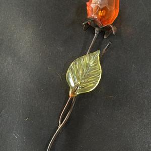 8055琥珀雕刻玫瑰