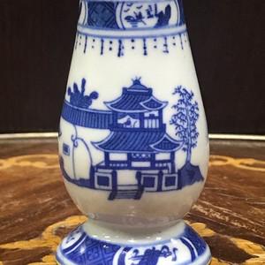111 清 青花山水调料罐