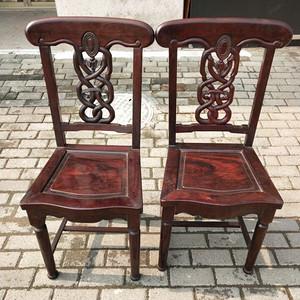 红酸枝椅子一对