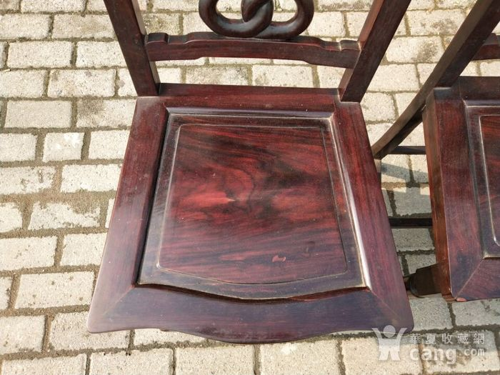 红酸枝椅子一对图4