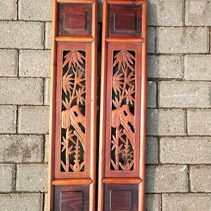 一对比较漂亮的竹石图花窗