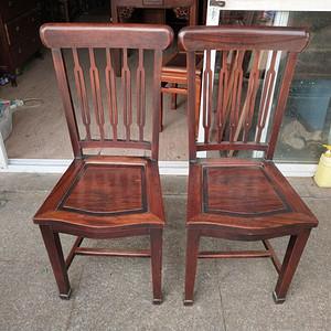 一对红酸枝椅子