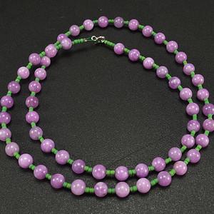 美国回流 天然紫色翡翠 项链